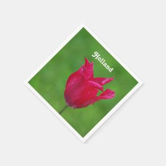 Blooming Tulip Disposable Napkin