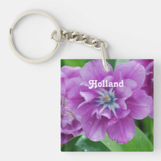 Blooming Tulips in Holland Keychain
