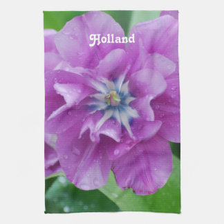 Blooming Tulips in Holland Kitchen Towel