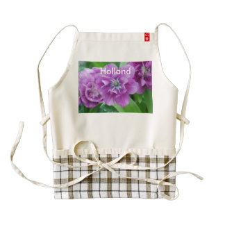 Blooming Tulips in Holland Zazzle HEART Apron