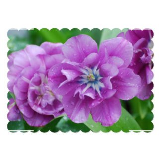 """Blooming Tulips 5"""" X 7"""" Invitation Card"""