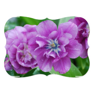 Blooming Tulips 5x7 Paper Invitation Card
