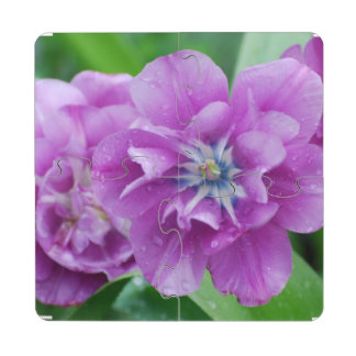Blooming Tulips Puzzle Coaster