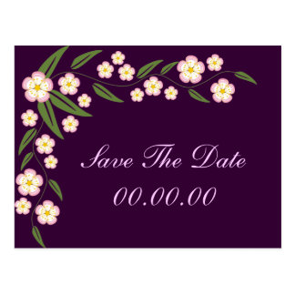 Blooming Vine Save The Date Postcards