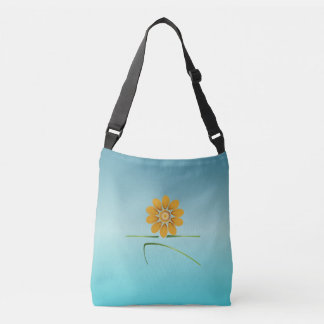 blooming warrior II turquoise tote bag __ strength