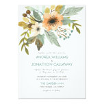 Blooming Watercolor Wedding Invitation