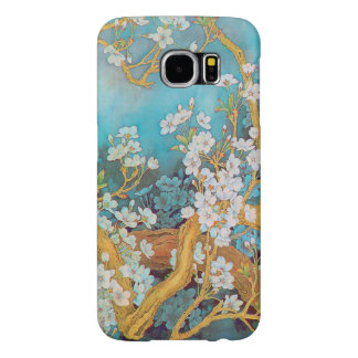 Blooming white peach flowers customize samsung galaxy s6 cases