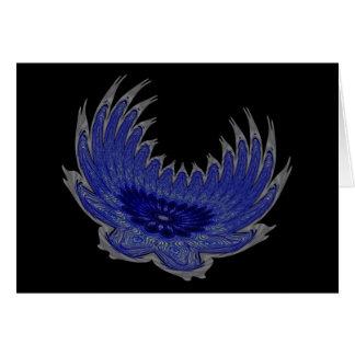 Blooming Wings blue Card