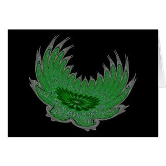 Blooming Wings green Card