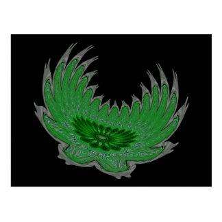 Blooming Wings green Postcard