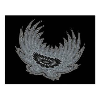 Blooming Wings metal Postcard