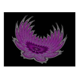 Blooming Wings purple Postcard
