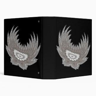 Blooming Wings silver 3 Ring Binder