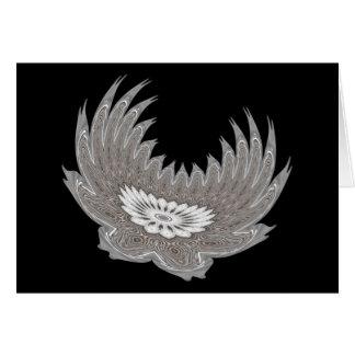 Blooming Wings silver Card