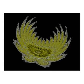 Blooming Wings yellow Postcard