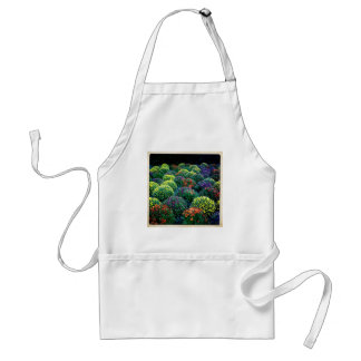 Blooming Winter Chrysanthemums on Park Avenue Adult Apron