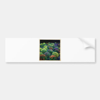 Blooming Winter Chrysanthemums on Park Avenue Bumper Sticker