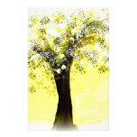 Blooming Yellow and White Tree Stationery