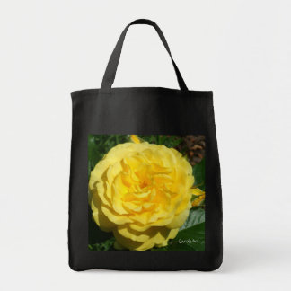 """Blooming Yellow Rose"" Canvas Bags"