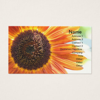 Blooming Yellow Sunflower Business Card
