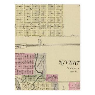 Bloomington and Riverton, Nebraska Postcard