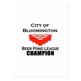 Bloomington Beer Pong Champion Postcard