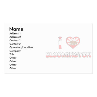 Bloomington, CA Double-Sided Standard Business Cards (Pack Of 100)