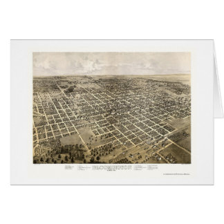 Bloomington IL Panoramic Map - 1867 Greeting Card