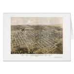 Bloomington, IL Panoramic Map - 1867 Greeting Card