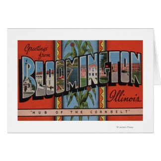 Bloomington Illinois - Large Letter Scenes Cards