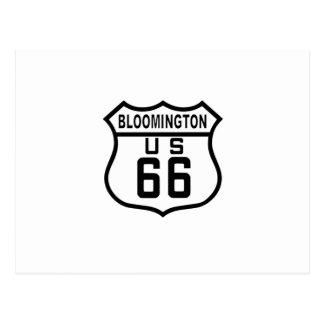 Bloomington, Illinois Route 66 Postcard