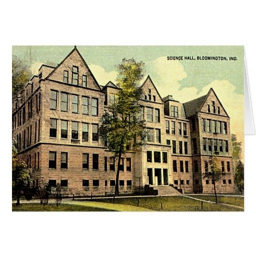 Bloomington Indiana IU Science Hall 1930 Cards