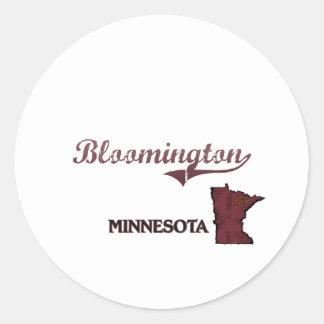 Bloomington Minnesota City Classic Classic Round Sticker