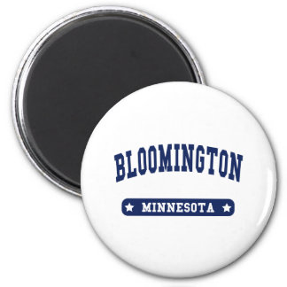 Bloomington Minnesota College Style t shirts 2 Inch Round Magnet