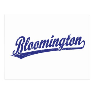 Bloomington script logo in blue post cards