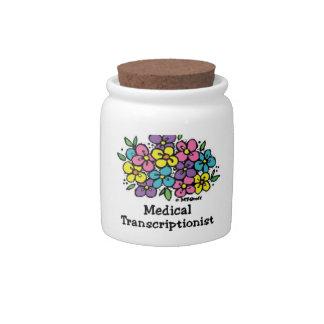 Blooms 2 Medical Transcriptionist Candy Jars