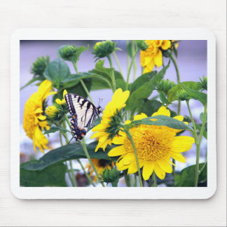 Blooms and Butterflies - Swallow Tail Mouse Pad