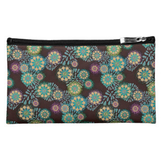 Blooms and leaves purse makeup bag