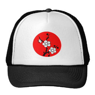 Blooms branch red sun of bare OM twig talk sun Mesh Hat
