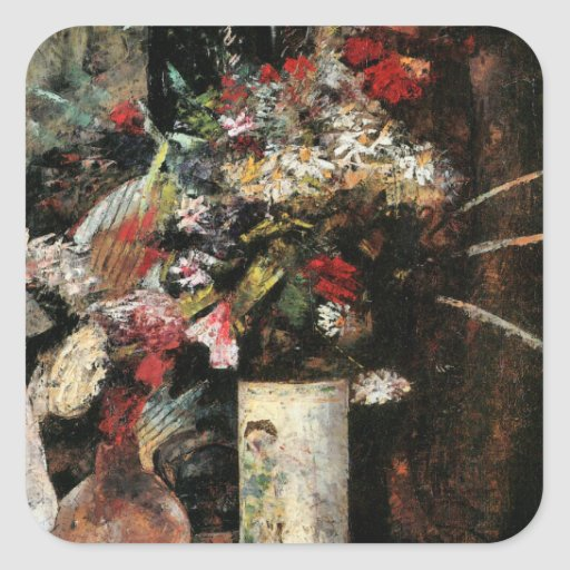 Blooms by Ury impressionist art foral bouquet Square Sticker