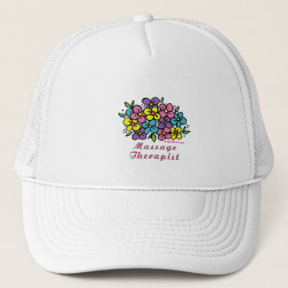 blooms_massage_therapist trucker hat