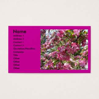Blooms of Crab Apple Tree Business Card