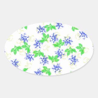 blooms oval sticker