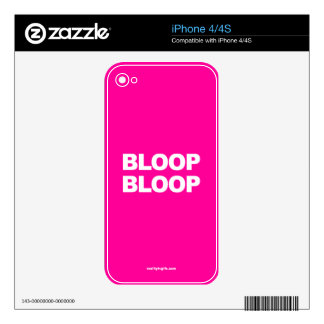Bloop Bloop - iPhone 4 Skin