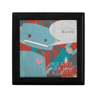 """""""Bloop"""" Means I Love You, in Robot Jewelry Box"""