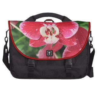 Bloosom rojo de la orquídea bolsas de ordenador