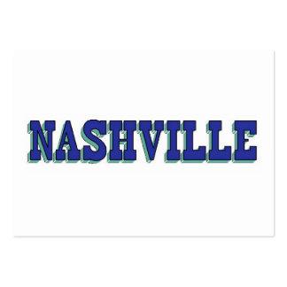 Bloque azul de Nashville Tarjetas De Visita Grandes