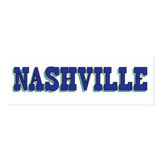 Bloque azul de Nashville Tarjetas De Visita Mini