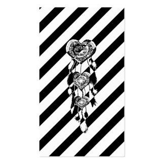 Bloque blanco negro del color de Dreamcatcher del Tarjetas De Visita