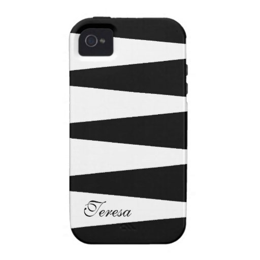 Bloque blanco y negro del color iPhone 4/4S carcasas
